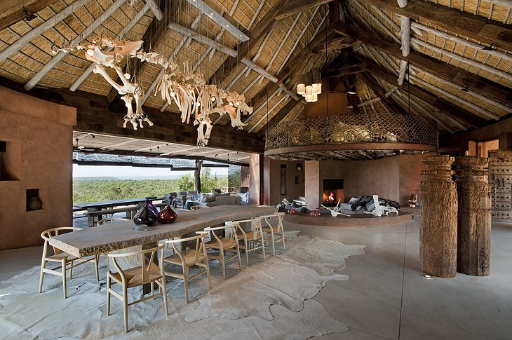 Leobo Private Reserve Observatory building lounge