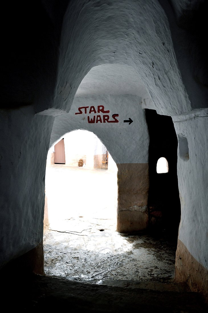 Hotel Sidi Driss Star Wars sign