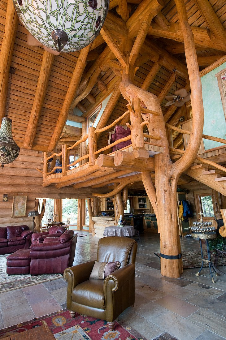 The Lodge at Chilko Lake wooden interior