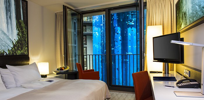 Radisson Blu Berlin - The home of the largest freestanding, cylindrical aquarium